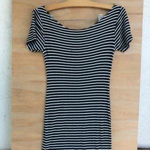 Stripped black & white summer dress
